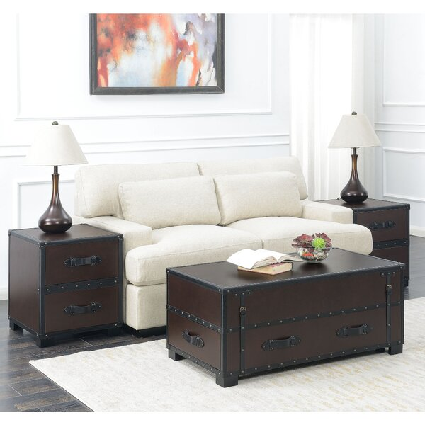 Elijah 3 Piece Coffee Table Set by 17 Stories