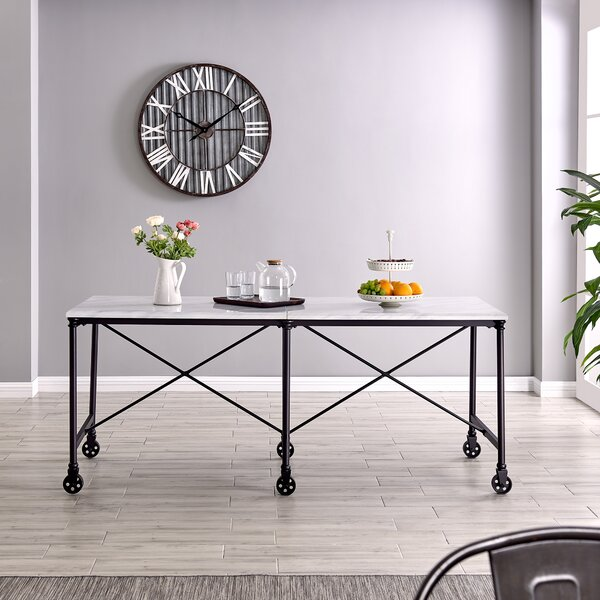 Housman Rolling Prep Table MDF by Gracie Oaks