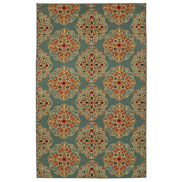 Taren Brown/Blue Area Rug by World Menagerie