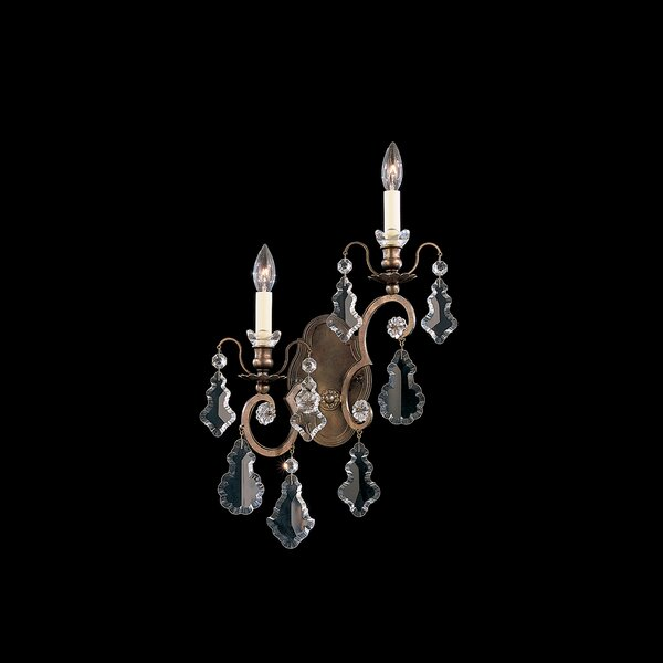 Versailles 2-Light Candle Wall Light by Schonbek