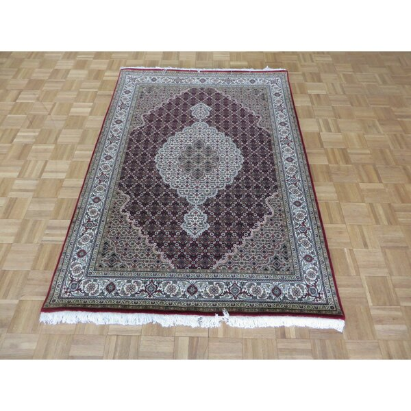 One-of-a-Kind Raiden Hand-Knotted Wool Red Area Rug by Astoria Grand