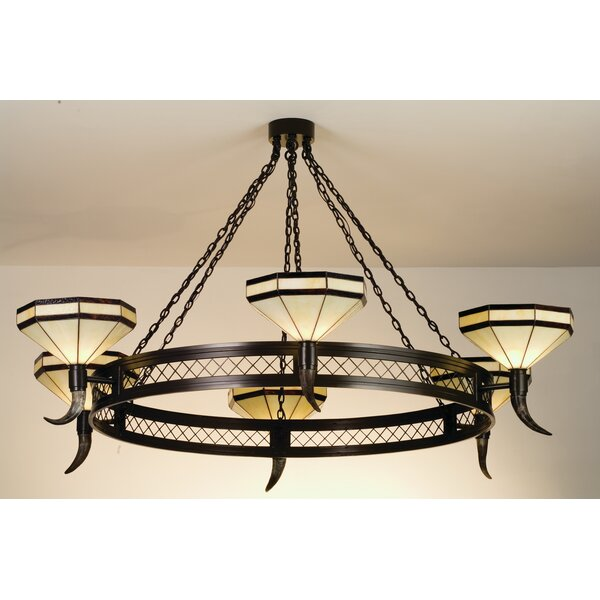 Beaudette 6 - Light Shaded Wagon Wheel Chandelier By Millwood Pines