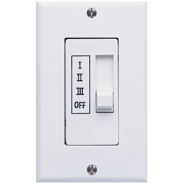 Three Speed Ceiling Fan Slide Wall Control in White by Concord Fans