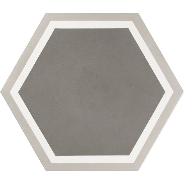 Mediterranea Sor I 8 x 8 Quarry Hand-Painted Tile in Gray by Kellani