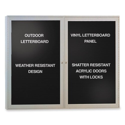 Enclosed Cabinet Letter Board, 53 x 43 by Ghent