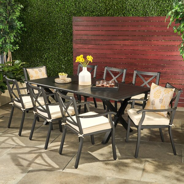 Maissane Outdoor 9 Piece Dining Set by Gracie Oaks