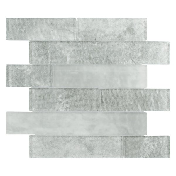 Nieve 11.625 x 11.75 Panel Glass Mosaic Tile in Ash by EliteTile
