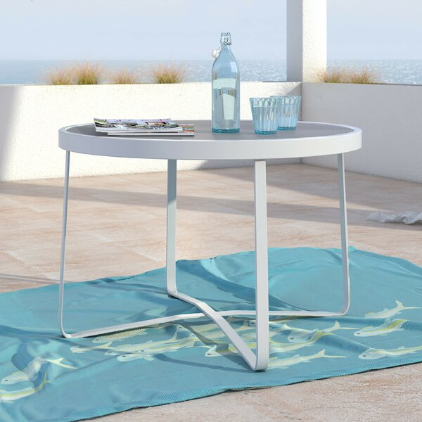 Mirabelle Glass Side Table by Elle Decor