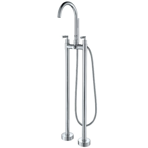 Diverter Tub and Shower Faucet with Double Handle