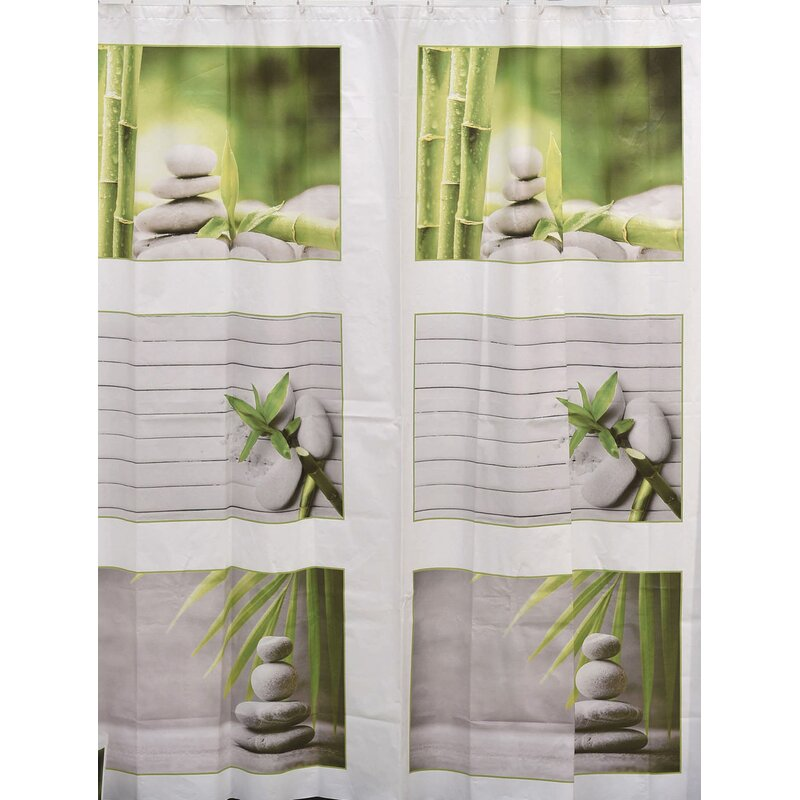 Zen And Co Bath Printed Peva Liner Shower Curtain