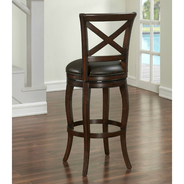 Bulfinch Bar & Counter Swivel Stool with Cushion by Darby Home Co Darby Home Co