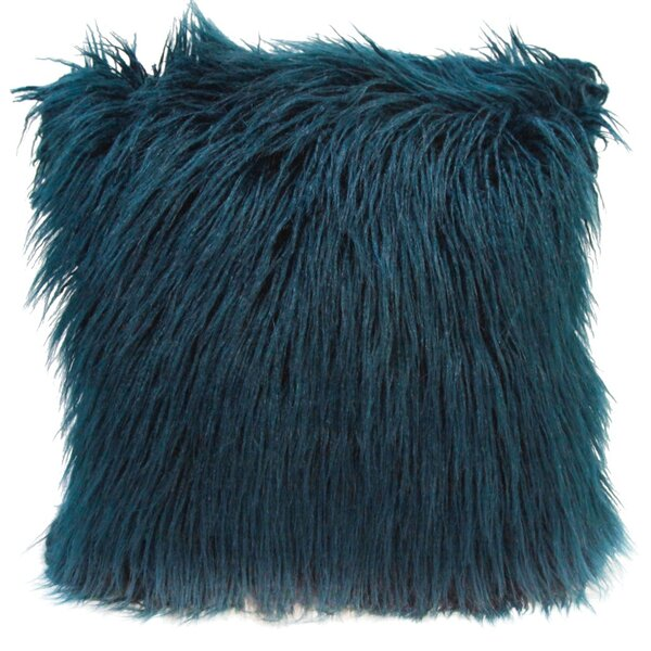 Lorne Faux Fur Throw Pillow by House of Hampton