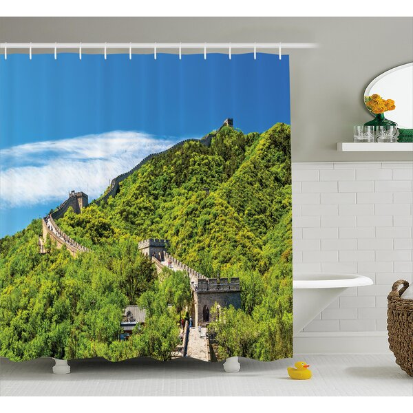 View Chinese Nature Panorama Shower Curtain by East Urban Home