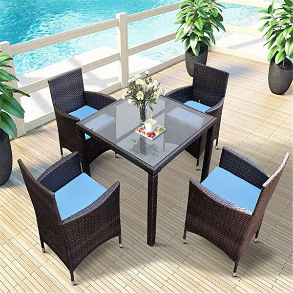 Kurt 5 Pieces Rattan Multiple Chairs Seating Group with Cushions by Bayou Breeze