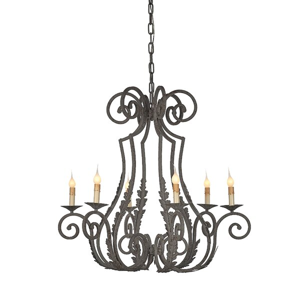 6 - Light Candle Style Empire Chandelier By Ellahome