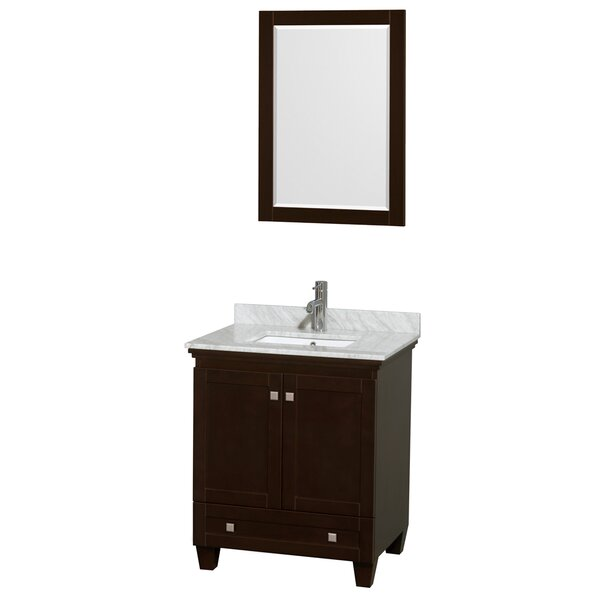 Acclaim 30 Single Espresso Bathroom Vanity Set with Mirror by Wyndham Collection