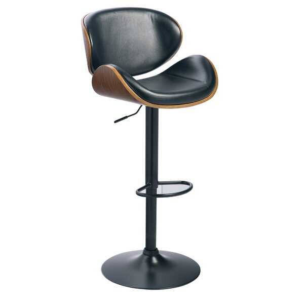 Galento Adjustable Height Swivel Bar Stool by 17 Stories
