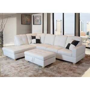 Russ Sectional  sc 1 st  Wayfair : white sectional sofa bed - Sectionals, Sofas & Couches