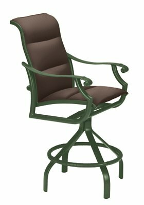 Montreux II Sling Swivel 28 Patio Bar Stool by Tropitone