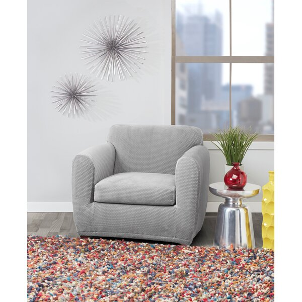 Stretch Block Box Cushion Armchair Slipcover By Sure Fit