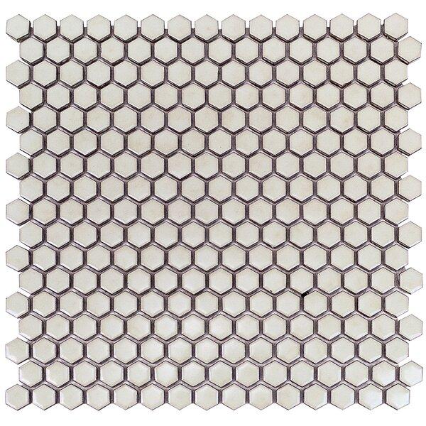 Bliss 0.6 x 0.6 Ceramic Mosaic Tile in Wheat Grass by Splashback Tile
