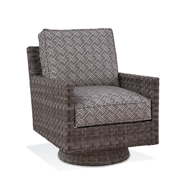 Luciano Swivel Patio Chair With Cushions By Braxton Culler