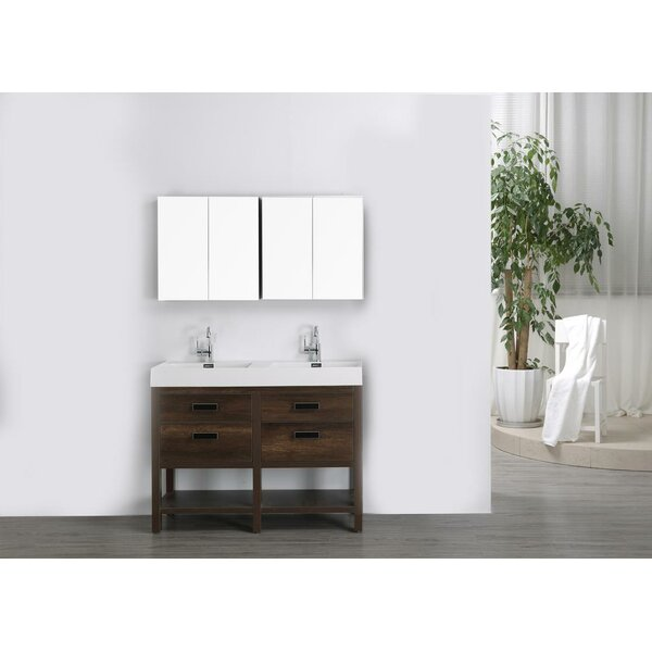 47 Double Bathroom Vanity Set with Mirror by Streamline Bath