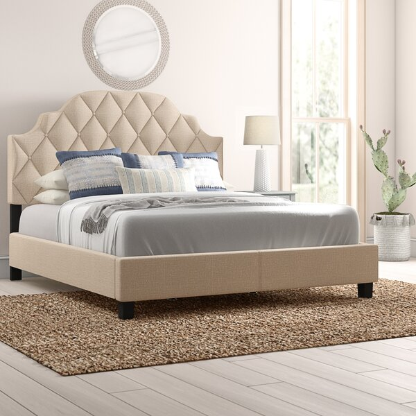 Thom Diamond Tufted Upholstered Standard Bed by Mistana