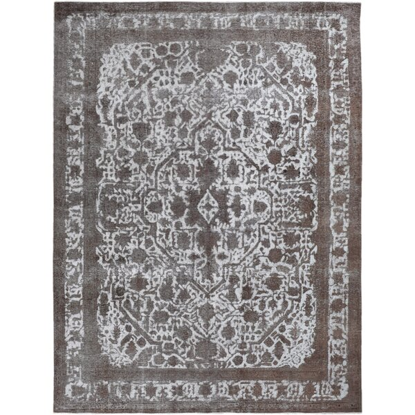 Vintage Hand-Knotted Gray/Brown Area Rug by Wildon Home ®