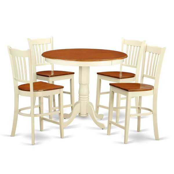Smyth 5 Piece Counter Height Pub Table Set by Charlton Home Charlton Home