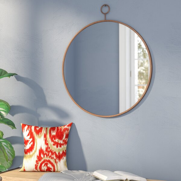 Waconia Round Gold Wall Mirror by Three Posts