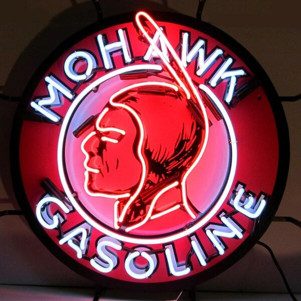 Mohawk Gasoline Neon Sign by Neonetics