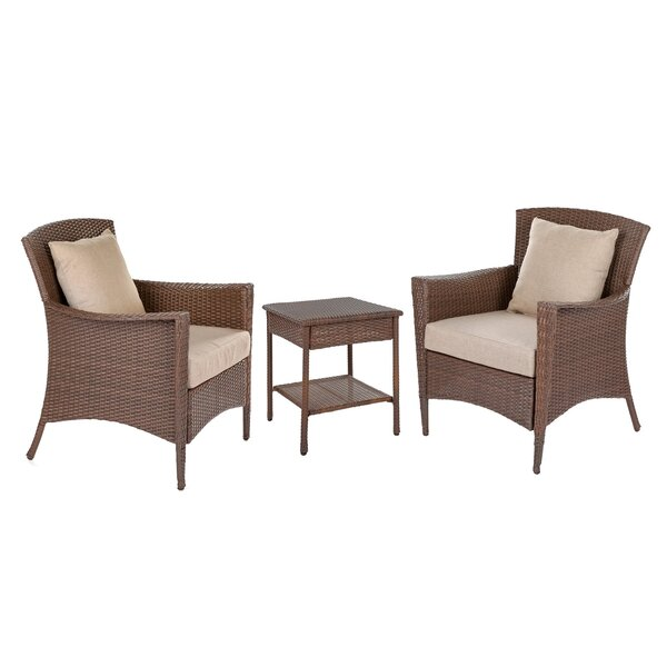 Stephine 3 Piece Conversation Set With Cushions By Ophelia & Co.
