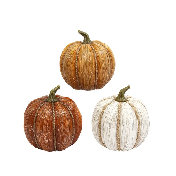 3 Piece Harvest Pumpkin Set by The Holiday Aisle