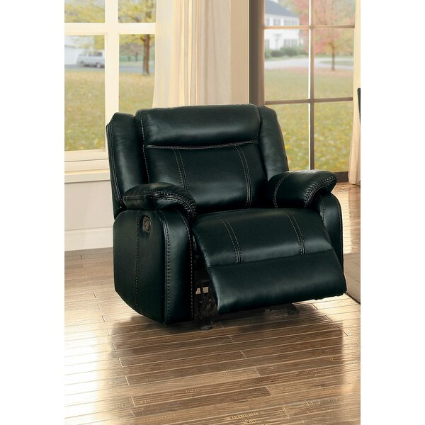 Austyn Faux Leather Manual Glider Recliner BNZC1647