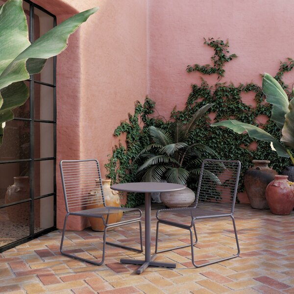 Nyla 3 Piece Bistro Set By CosmoLiving By Cosmopolitan by CosmoLiving by Cosmopolitan No Copoun