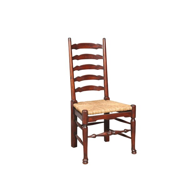 Yorkshire Solid Wood Ladder Back Side Chair In Brown (Set Of 2) By Manor Born Furnishings