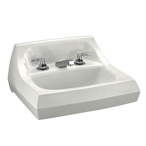 Kingston Ceramic 22 Wall Mount Bathroom Sink with Overflow by Kohler