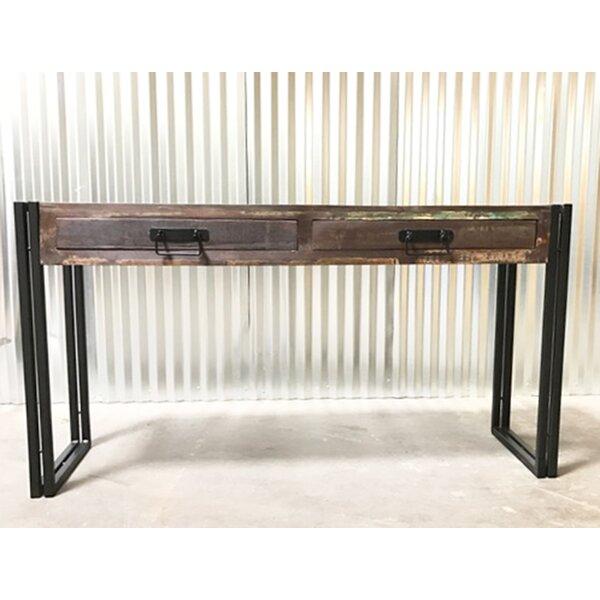 Julianna Old Reclaimed Wood Console Table with Metal Legs by Breakwater Bay Breakwater Bay