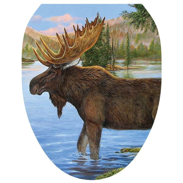 Majestic Moose Toilet Seat Decal by Toilet Tattoos