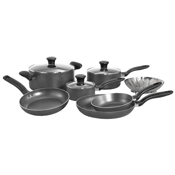 Initiatives 10 Piece Non-Stick Cookware Set by T-fal