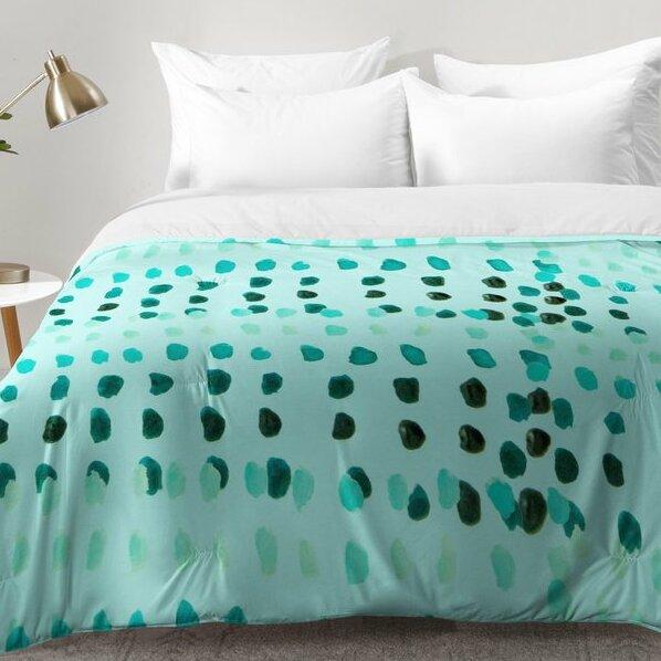 Aqua Dashes Comforter Set by East Urban Home