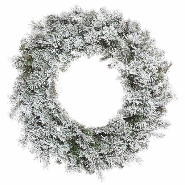 Flocked Wreath by Loon Peak