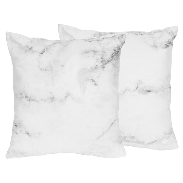 Marble Throw Pillow (Set of 2) by Sweet Jojo Designs