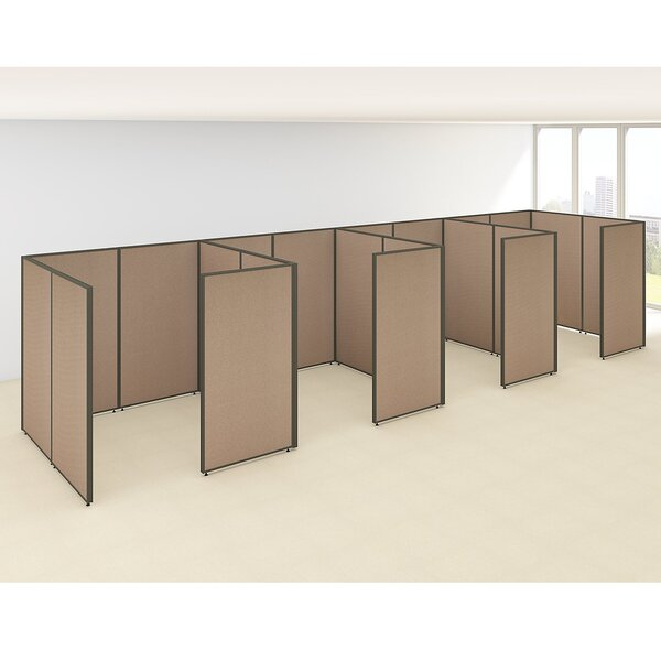 ProPanel 4 Person Closed Cubicle Configuration by Bush Business Furniture