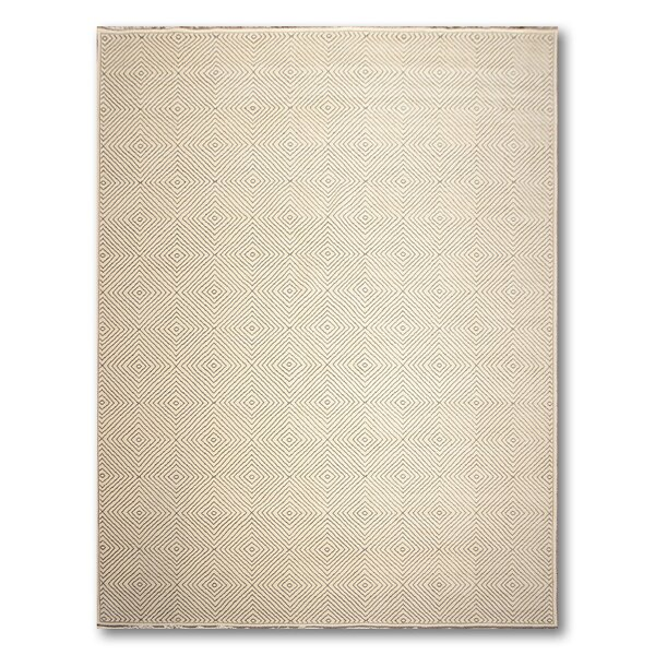 One-of-a-Kind Holbrooke Hand-Knotted Wool Ivory Area Rug by Canora Grey