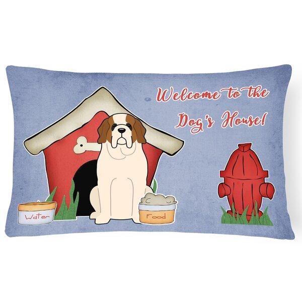 Dog House Soild Indoor/Outdoor Fabric Lumbar Pillow by East Urban Home