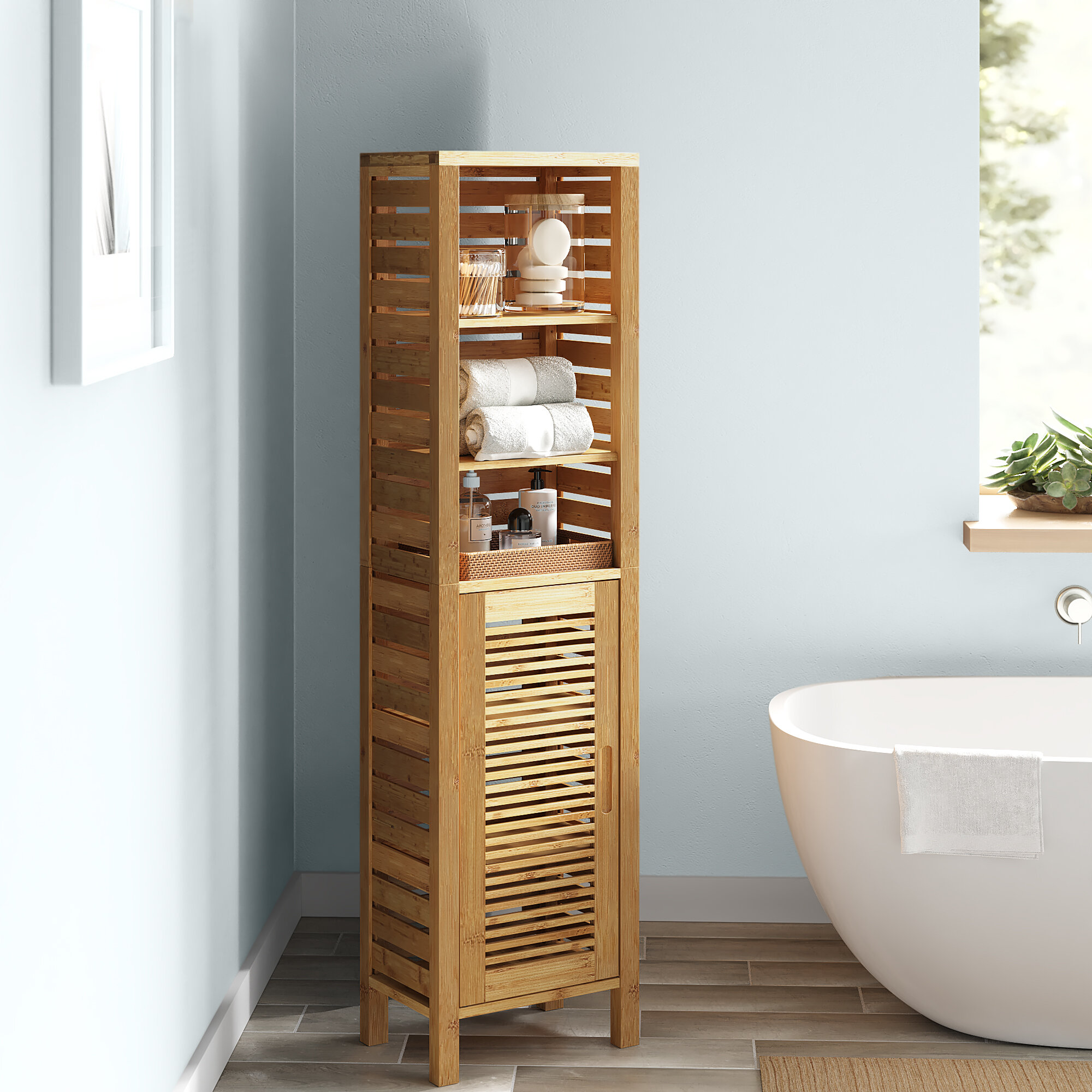 Bamboo Bathroom Cabinets Shelving You Ll Love In 2021 Wayfair