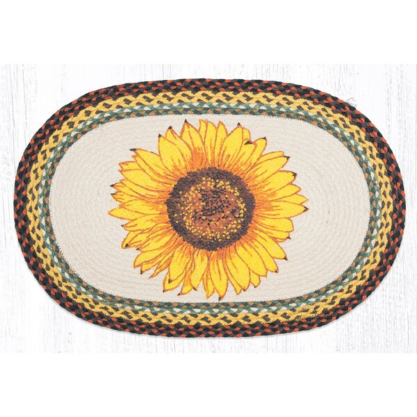 Sunflower Printed Area Rug by Earth Rugs