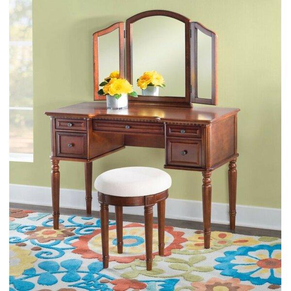 Behrendt Vanity Set with Mirror by Astoria Grand Astoria Grand